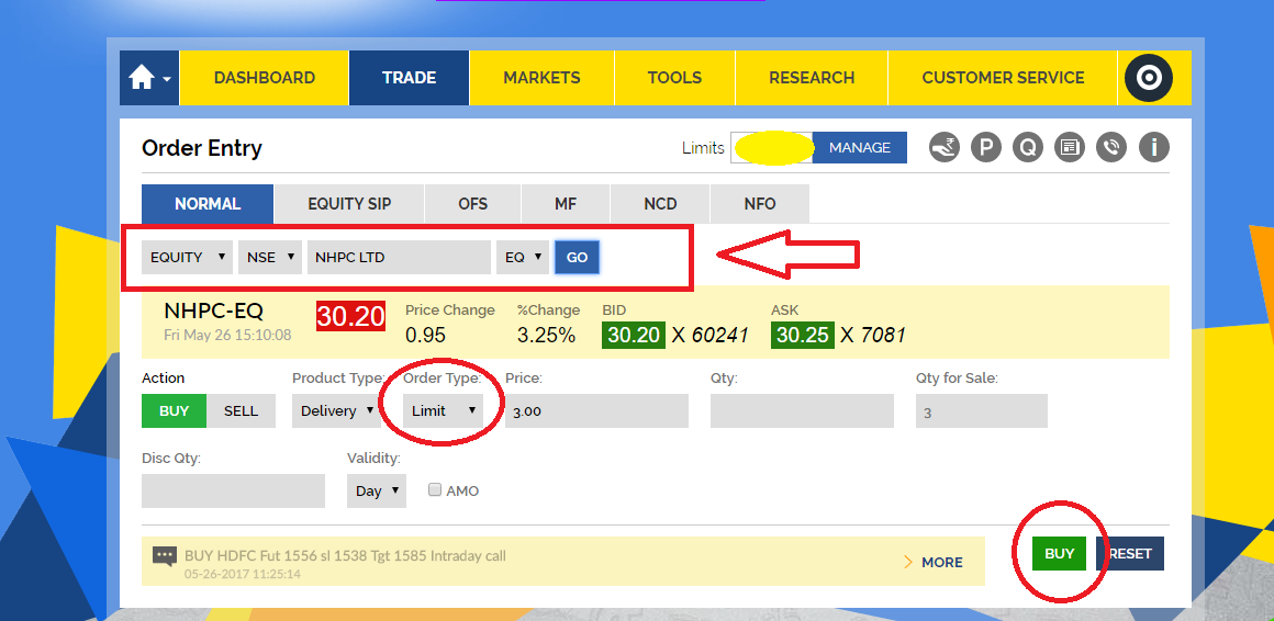 How To Buy A Stock Using Sbi Demat Account Trade Brains